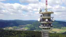 Modernisierungsprojekt Digitalfunk BOS 2030 der Abteilung Kommunikationstechnik, Funkmast